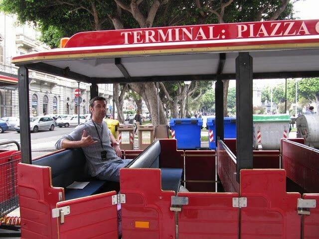 tren turístico cagliaritano, piazza carmine cagliari