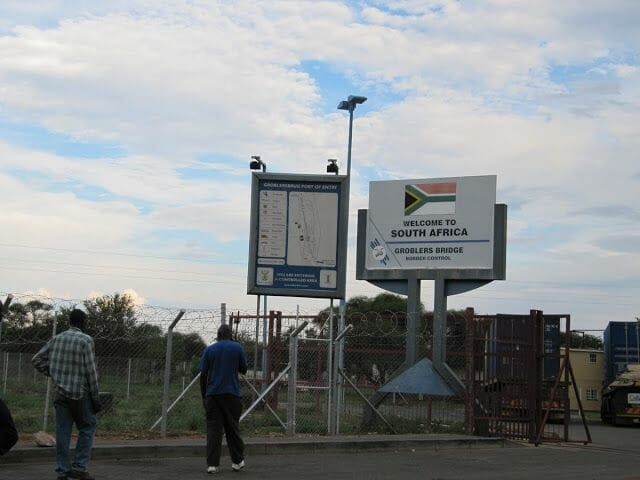 groblers bridge, south africa border