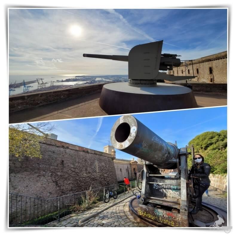cañones baluarte de Sant Carles - castell de Montjuïc