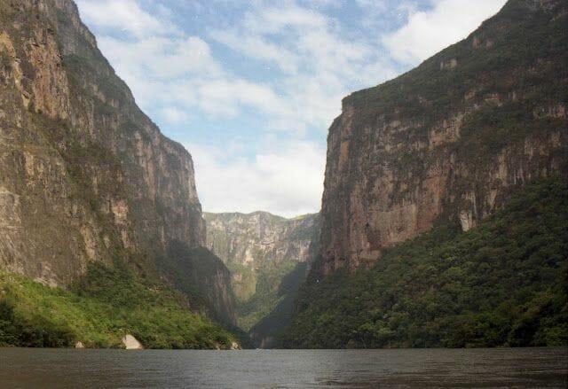 cañón sumidero - lugares turísticos de Chiapas
