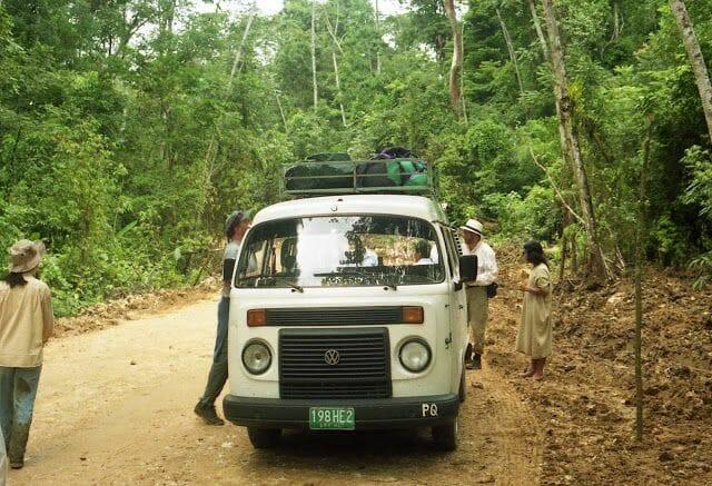 camino a las ruinas de bonampak