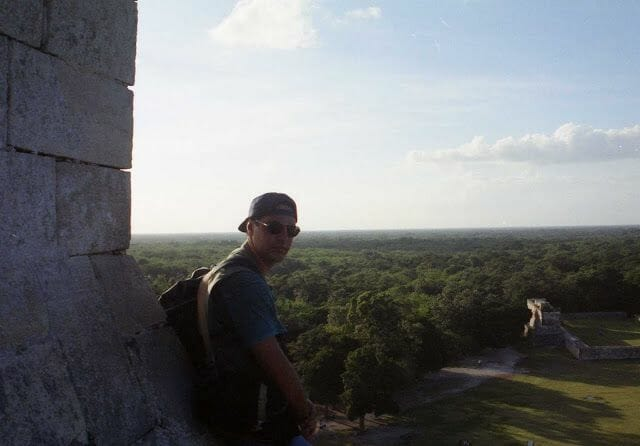 vistas desde la Pirámide del Castillo de Chichén Itzá