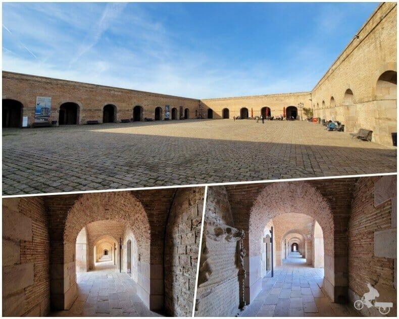 patio de armas del castell de Montjuïc
