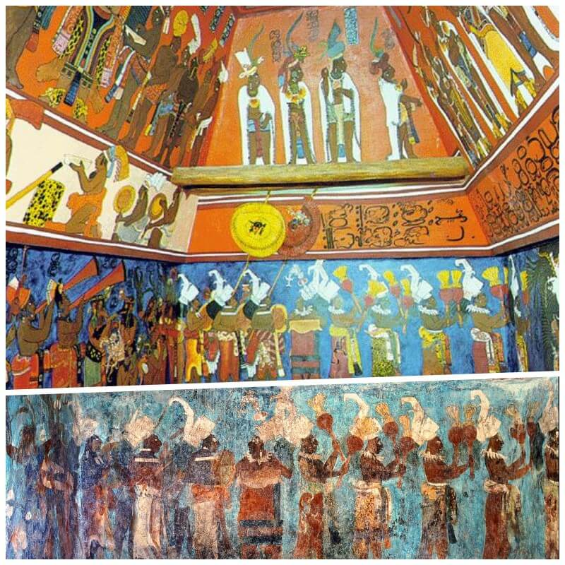pinturas bonampak - tour a yaxchilán y Bonampak