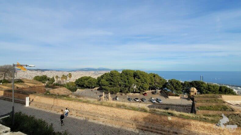 vistas del castillo de Montjuïc
