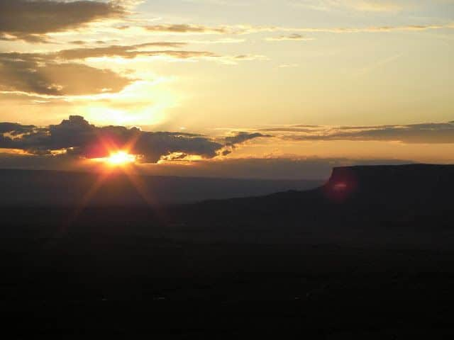 Sunset de Costa Oeste de Estados Unidos