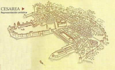 mapa antigua Cesarea