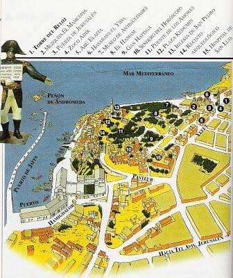 mapa de Jaffa