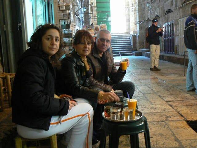 zumo de naranja en Jerusalén