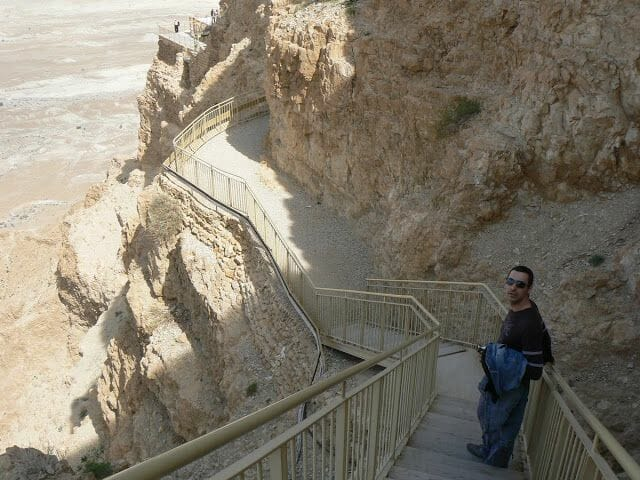 escaleras de masada