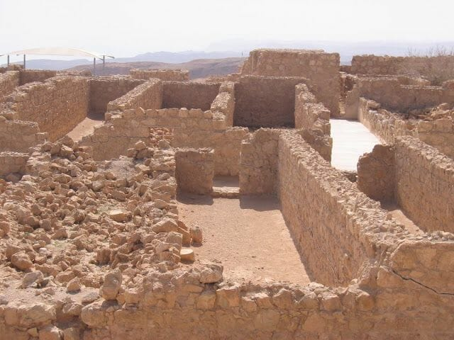 cimientos de Masada