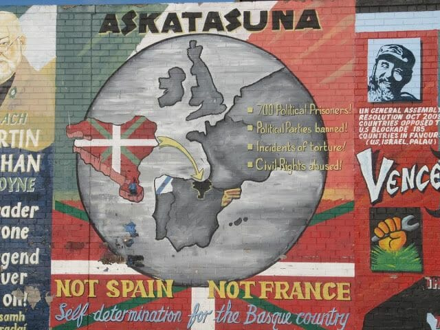 askatasuna euskadi murales belfast