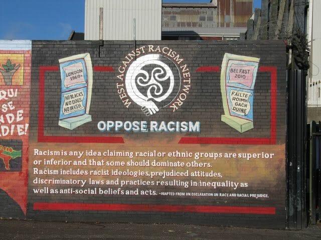 oppose racism murales belfast