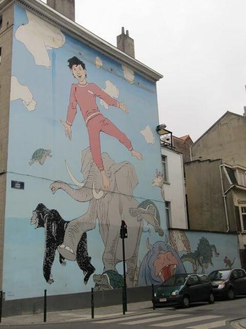 Mural Hermann - Les rêves de Nic