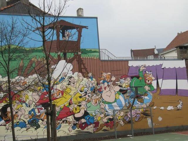 Mural Goscinny et Uderzo - Asterix et Obelix
