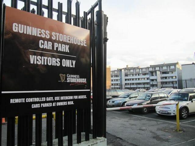 parking Guinness Dublín