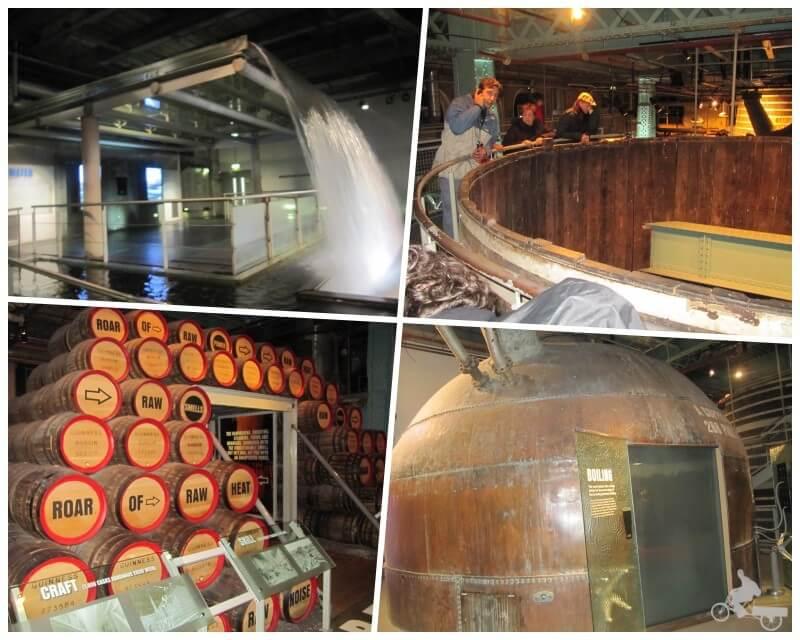elaboración de la cerveza guinness en la fábrica