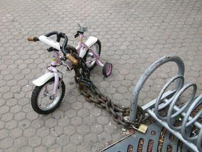 bicicleta con cadena