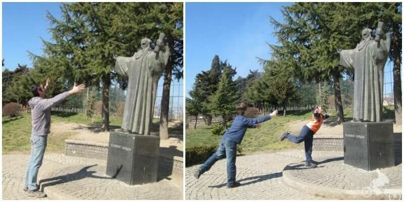 estatua de San Clemente - qué ver en ohrid