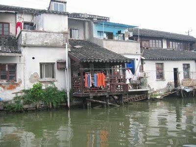 casas en los canales de Suzhou