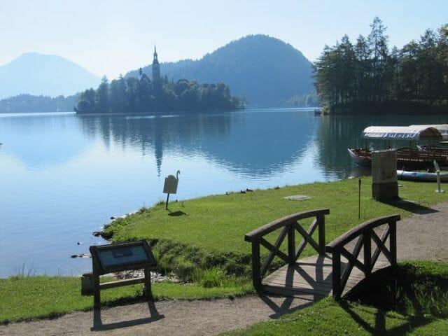 lago bled Eslovenia panoramica lago e iglesia
