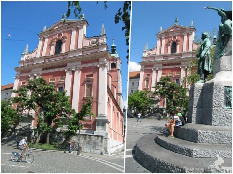 Iglesia franciscana de Liubliana o Franciškanska cerkev