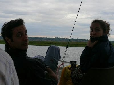 atardecer en el río Chobe