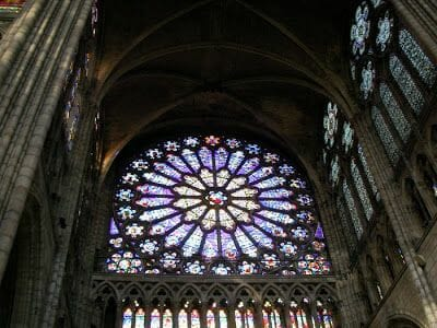 rosetón catedral de Saint Denis
