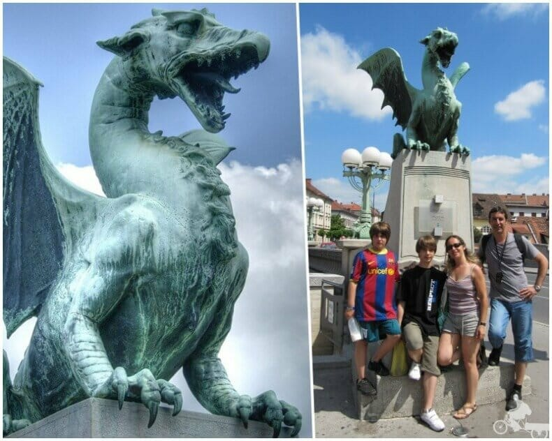 Puente de los dragones de Liubliana