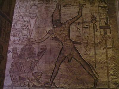 jeroglíficos de Ramsés II en la batalla de Kadesh