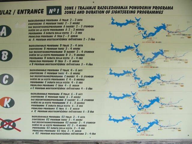 lagos de Plitvice recorridos