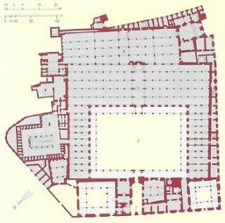 planta de la de la mezquita universidad Al-Azhar