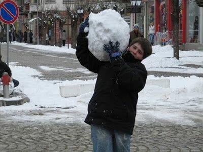 nieve en el viaje a Bulgaria