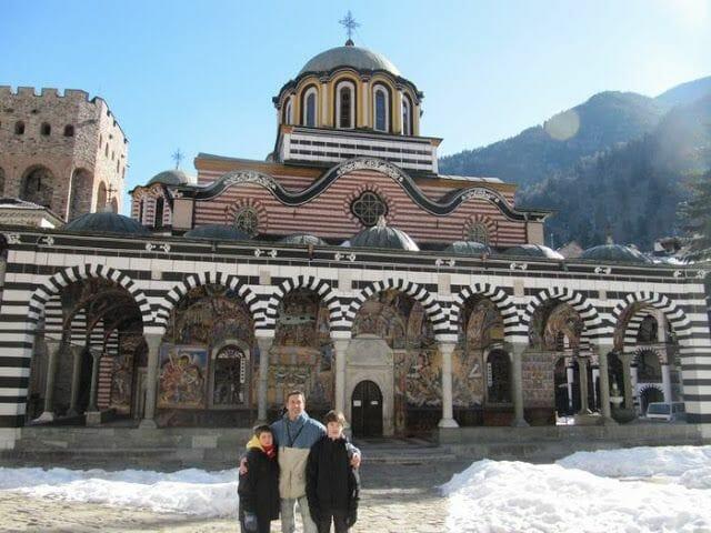la iglesia de la natividad, en el patio del monasterio Rila