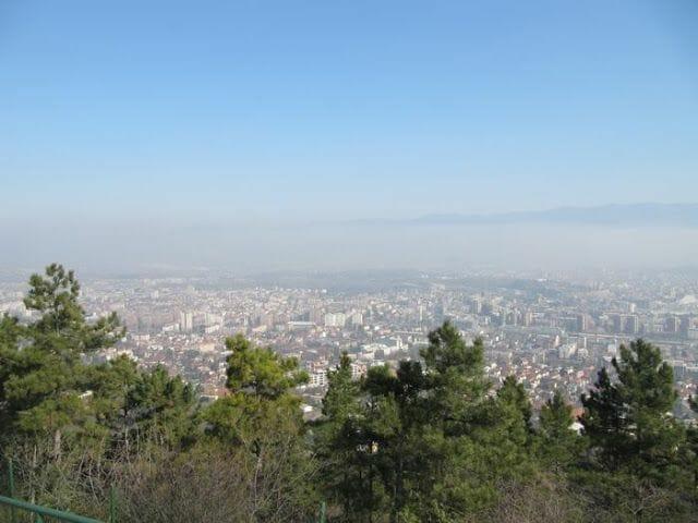 vistas desde la Cruz de Skopje