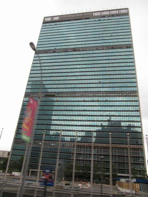 edificio ONU en la calle 42 de Nueva York