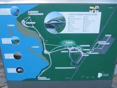 mapa acantilados de Moher