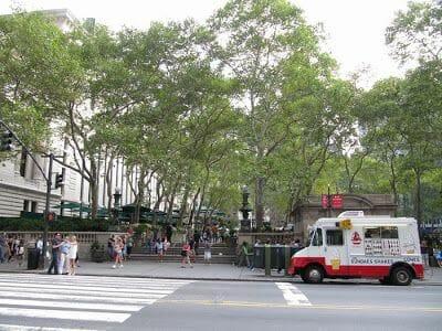 Bryant Park en la calle 42 de Nueva York