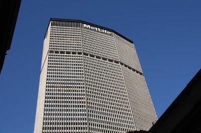 rascacielos de NY de Metlife en la calle 42 de Nueva York