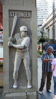 jugador beisbol calle 42 NY