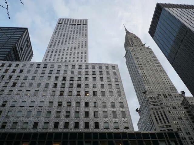 Chrysler Building en la calle 42 de Nueva York