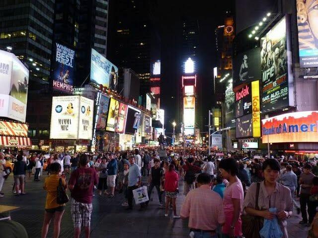 times square - mejores free tours en Nueva York