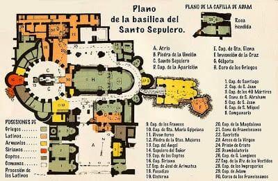 Plano del Santo Sepulcrode Jerusalén