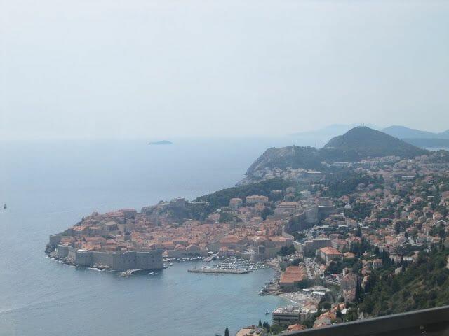 Dubrovnik desde el sur, murallas de Dubrovnik