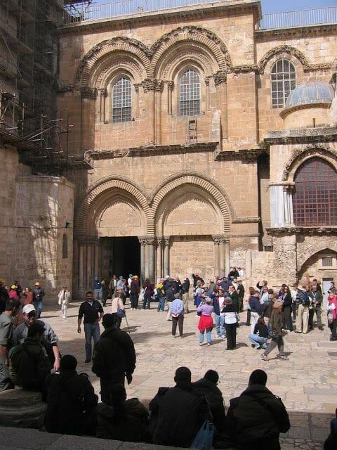 Fachada del Santo Sepulcro de Jerusalén
