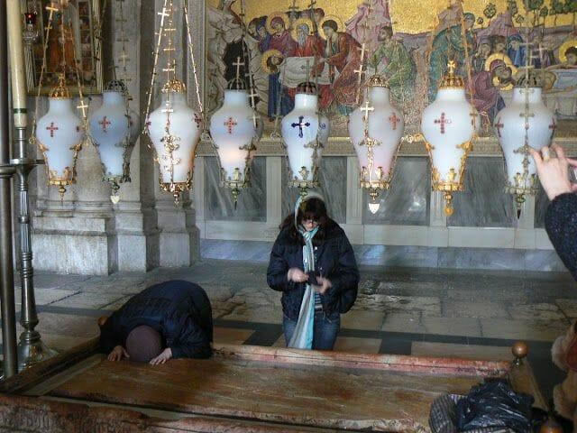 Piedra de Unción del Santo Sepulcro de Jerusalén