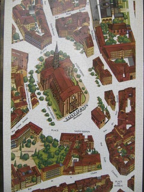 plano san Sernin de Toulouse
