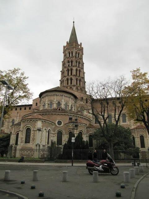 ábside y torre de san Sernin de Toulouse
