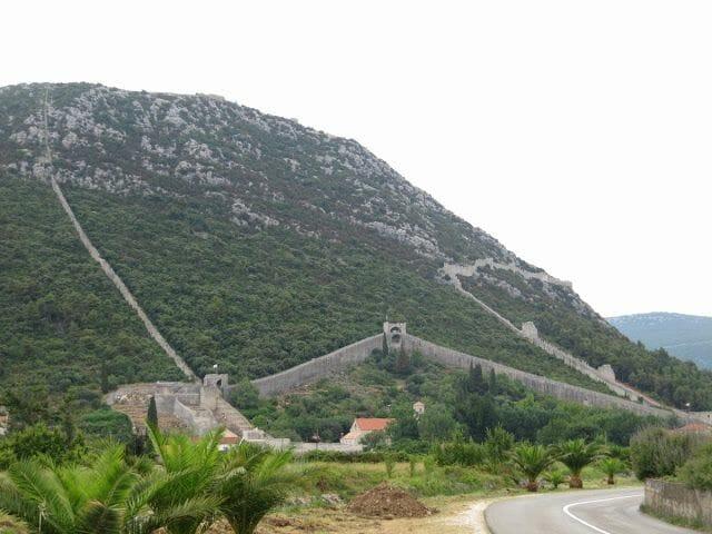 Ston, muralla china europea, muralla exterior Ston Croacia