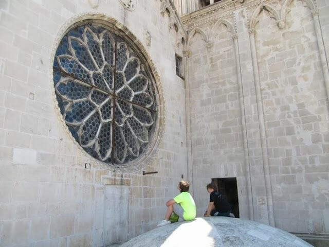 rosetón de la catedral de Trogir